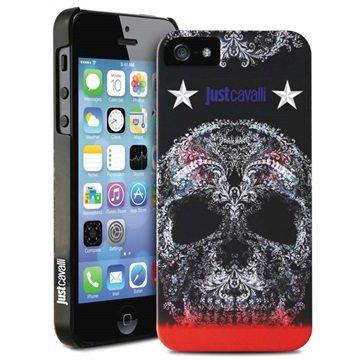 iPhone 5 / 5S / SE Puro Just Cavalli Skull Cover - Sort