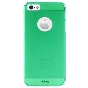 iPhone 5 / 5S / SE Puro Rainbow Hårdt Cover - Grøn