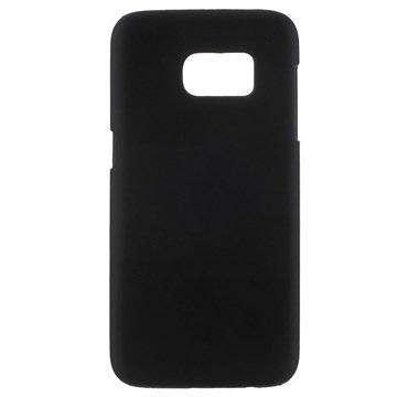 Samsung Galaxy S7 Gummiagtig Hårdt Cover - Sort