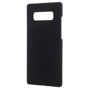 Samsung Galaxy Note 8 Plast med Gummioverflade Cover - Sort