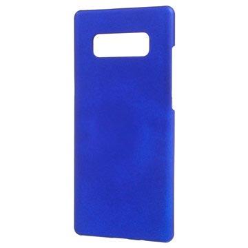 Samsung Galaxy Note 8 Plast med Gummioverflade Cover - Mørkeblå