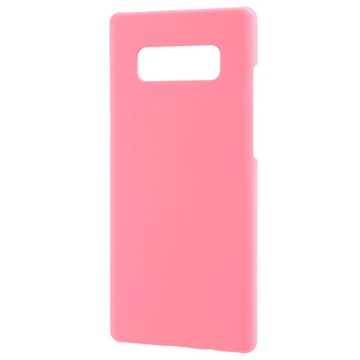 Samsung Galaxy Note 8 Plast med Gummioverflade Cover - Pink