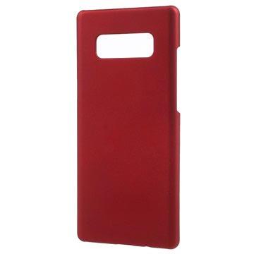Samsung Galaxy Note 8 Plast med Gummioverflade Cover - Rød