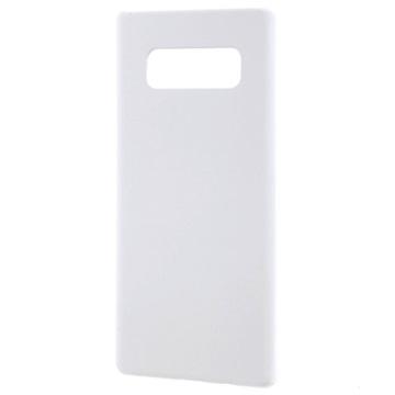 Samsung Galaxy Note 8 Plast med Gummioverflade Cover - Hvid