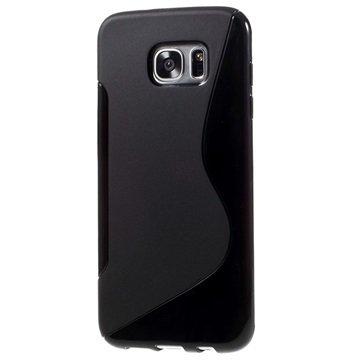 Samsung Galaxy S7 Edge S-Curve TPU Cover - Sort