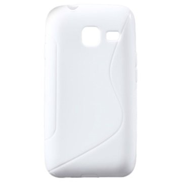 Samsung Galaxy J1 Nxt S-Curve TPU Cover - Hvid MTP Products til  - MediaNyt