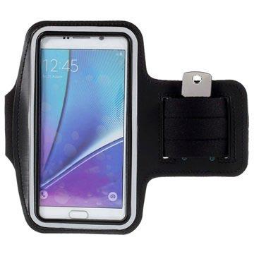 Samsung Galaxy S6 Edge+, Galaxy S7 Edge Sport Gym Armbånd - Sort