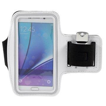 Samsung Galaxy S6 Edge+, Galaxy S7 Edge Sport Gym Armbånd - Hvid