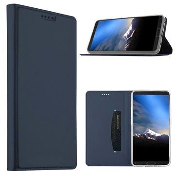 Samsung Galaxy S9 Slim Flip Cover med Kortholder - Mørkeblå
