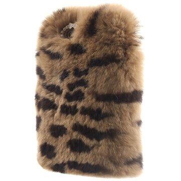 iPhone 6 Plus / 6S Plus Blød Pels Cover - Leopard