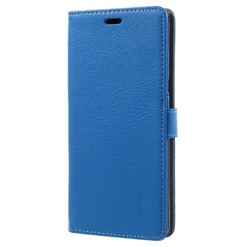 Tekstureret Samsung Galaxy Note 8 Cover med Kortholder - Blå