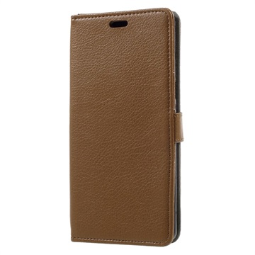 Tekstureret Samsung Galaxy Note 8 Cover med Kortholder - Brun
