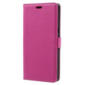 Tekstureret Samsung Galaxy Note 8 Cover med Kortholder - Hot Pink