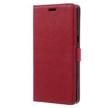 Tekstureret Samsung Galaxy Note 8 Cover med Kortholder - Rød