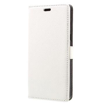 Tekstureret Samsung Galaxy Note 8 Cover med Kortholder - Hvid