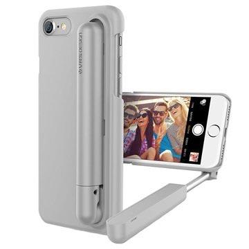 VRS Design Cue Stick iPhone 7 Selfie Cover - Lysegrå