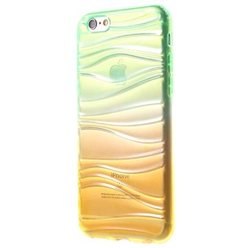 iPhone 6/6S Waves TPU Cover - Grøn / Gul