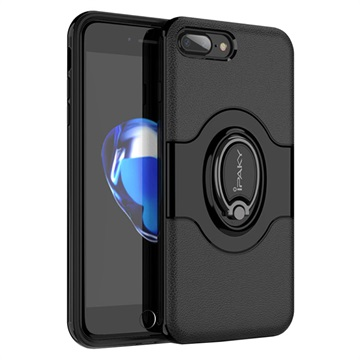 iPaky Hybrid Magnetisk Ring iPhone 7 Plus / iPhone 8 Plus Cover - Sort