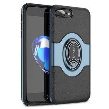 iPaky Hybrid Magnetisk Ring iPhone 7 Plus / iPhone 8 Plus Cover - Blå