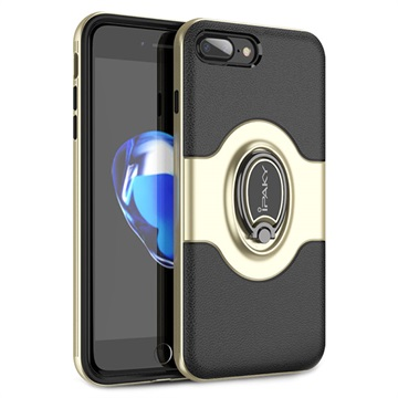 iPaky Hybrid Magnetisk Ring iPhone 7 Plus / iPhone 8 Plus Cover - Guld