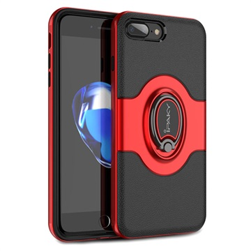 iPaky Hybrid Magnetisk Ring iPhone 7 Plus / iPhone 8 Plus Cover - Rød