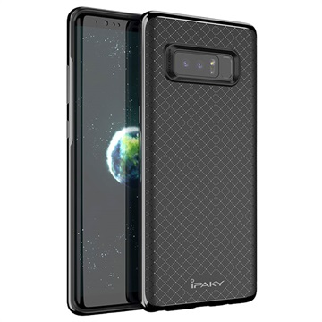 Samsung Galaxy Note 8 iPaky Textured Hybrid Cover - Sort