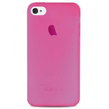 iPhone 4 / 4S Puro 0.3 Ultra Slim Silikone Cover - Pink