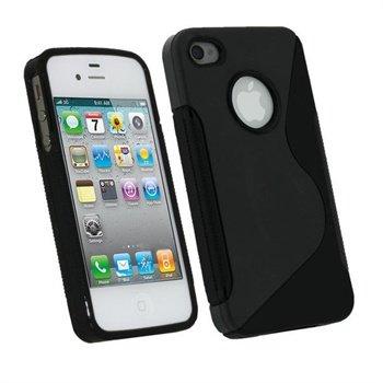iPhone 4 / 4S iGadgitz Dual Tone TPU Taske - Sort