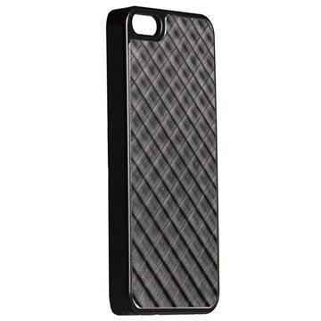 iPhone 5 / 5S / SE Krusell AluCover - Sort Grid