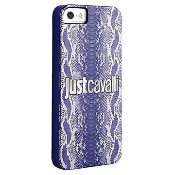 iPhone 5 / 5S / SE Puro Just Cavalli Python Hårdt Cover - Blå