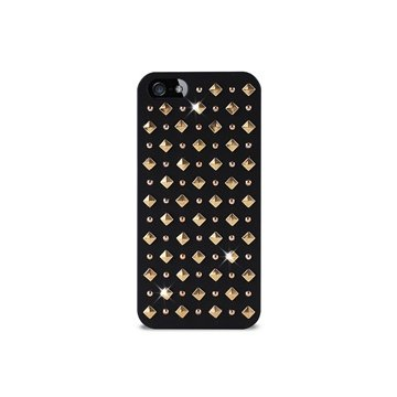 iPhone 5 / 5S / SE Puro Rock Round And Square Studs Cover - Sort