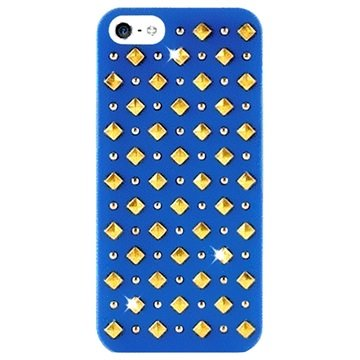 iPhone 5 / 5S / SE Puro Rock Round and Square Studs Cover - Blå