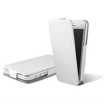 iPhone 5 / 5S / SE Ksix Ultra Slim Flip PU Læder Taske - Hvid