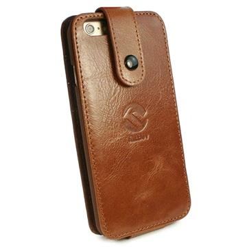iPhone 6 / 6S Tuff-Luv In-Genius Vintage Læder Taske - Brun Tuff-Luv til  - MediaNyt