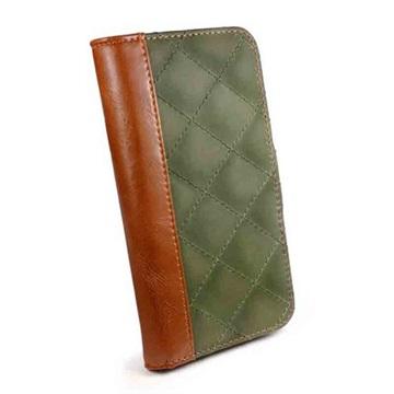 iPhone 6S Tuff-luv Vintage Quilted Pung Taske - Brun / Grøn Tuff-Luv til  - MediaNyt.dk