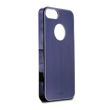 iPhone 5 / 5S / SE Puro Metal Effect Click-On Cover - Blå