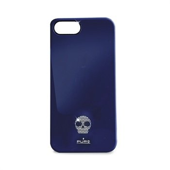 iPhone 5 / 5S / SE Puro Skull Click-On Cover - Blå