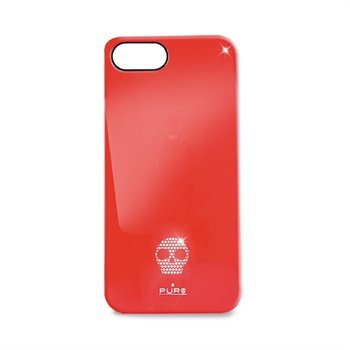 iPhone 5 / 5S / SE Puro Skull Click-On Cover - Rød