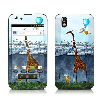 LG Marquee LS855 Above The Clouds Skin DecalGirl til  - MediaNyt.dk