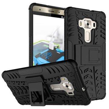 Anti-Slip Asus Zenfone 3 Deluxe ZS570KL Hybrid Cover - Sort