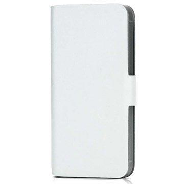 d464d820dd6 iPhone 5 / 5S / SE Doormoon Pung Læder Taske - Hvid   Tasker