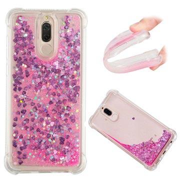 Huawei Mate 10 Lite Liquid Glitter Cover - Pink