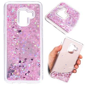 Samsung Galaxy A8 (2018) Liquid Glitter Cover - Pink