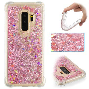 Samsung Galaxy S9+ Liquid Glitter Cover - Pink