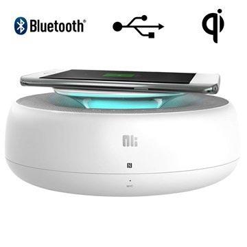 Nillkin Enjoy Cozy MC2 Bluetooth-højtaler & Trådløs Oplader - Hvid