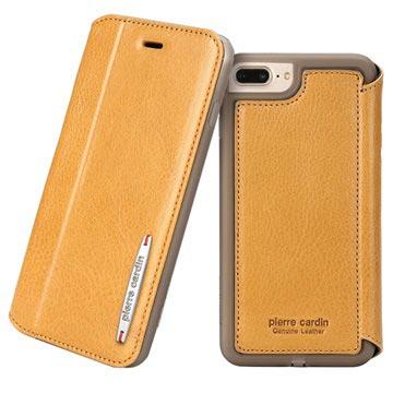 Pierre Cardin iPhone 7 Plus / iPhone 8 Plus Flip Lædercover - Brun