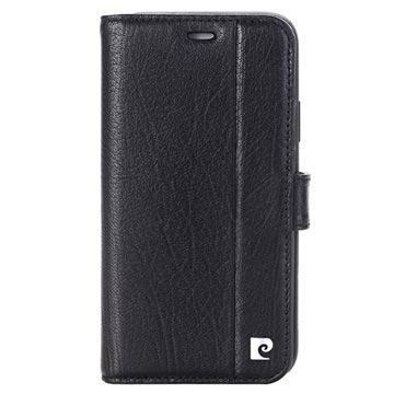Pierre Cardin iPhone X Læder Cover med Kortholder - Sort