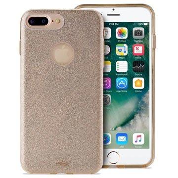 Puro Glitter iPhone 7 Plus / iPhone 8 Plus Cover - Guld