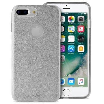 Puro Glitter iPhone 7 Plus / iPhone 8 Plus Cover - Sølv