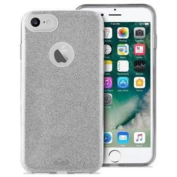 Puro Glitter iPhone 6/6S/7/8 Cover - Sølv